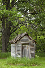 Dilapidated Outhouse; Manitoba, Canada