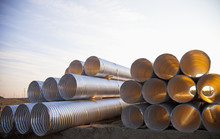 Culvert Pipe Used In Road Cons...