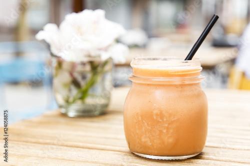 Poster de jardin Baobab Pink smoothie. Detox superfood