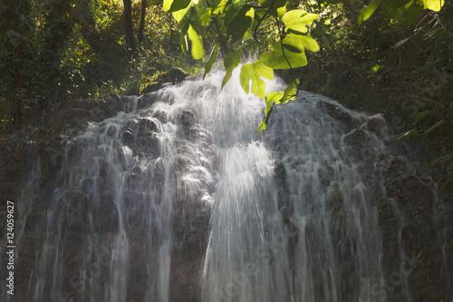 Waterfall In The Natural Park Monasterio De Piedra; Zaragoza Province, Aragon, Spain