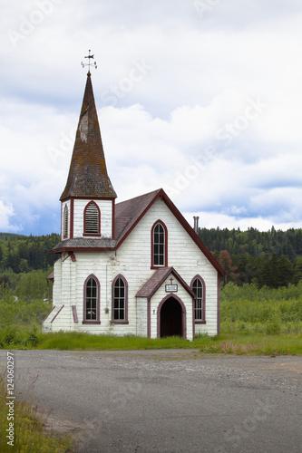 Old White Frontier Church; Kitwanga, British Columbia, Canada