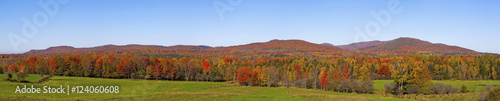 Autumn Panorama; Brome, Quebec, Canada