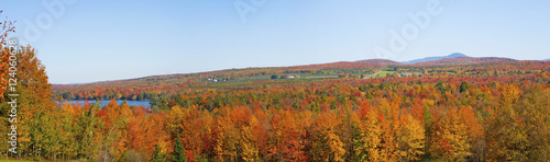 A Landscape With Autumn Colours; Selby Lake, Quebec, Canada
