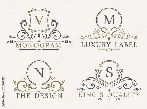 Luxury logo template shield business sign for signboard monogram luxury logo template shield business sign for signboard monogram identity restaurant hotels wajeb Gallery