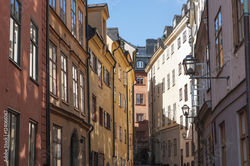Colourful Buildings In Old Town; Stockholm, Sweden