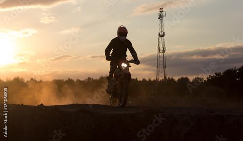 Foto op Canvas Motorsport Кроссмен готовится к прыжку