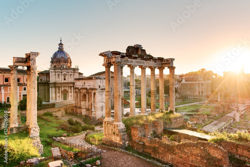 Fotografía Roman Forum at sunrise, Italy