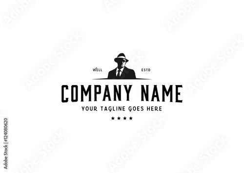 Tablou Canvas mafia logo design