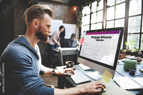 Photo  Mortgage Refinance Application Form Concept