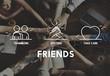Friends Partner Take Care Teamwork Concept