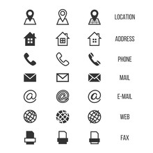 Business Card Vector Icons, Ho...