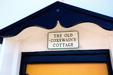 The Old Coxswains Cottage Sign...