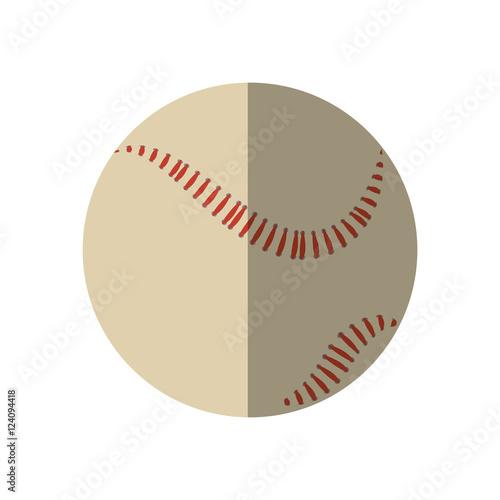 baseball ball equipment isolated icon vector illustration design Poster