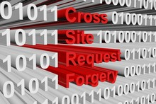 Cross Site Request Forgery In The Form Of Binary Code, 3D Illustration