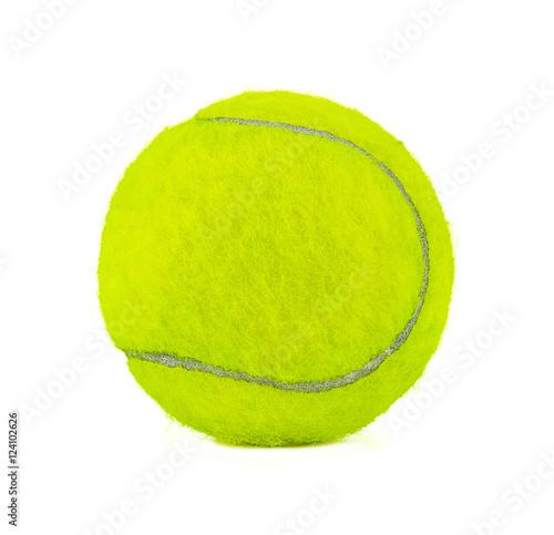 In de dag Bol Tennis ball isolated on white.