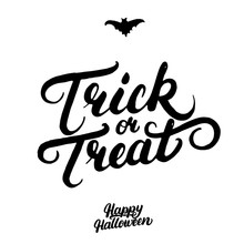 Trick Or Treat Hand Written Le...