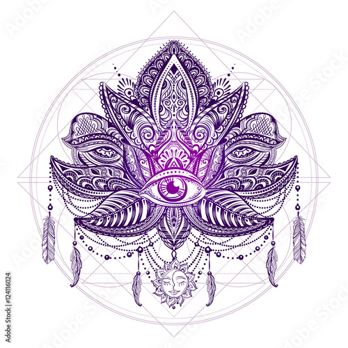 wektor-tatuaz-lotos
