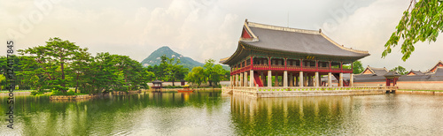 Foto op Canvas Seoel Gyeongbokgung Palace. South Korea. Panorama