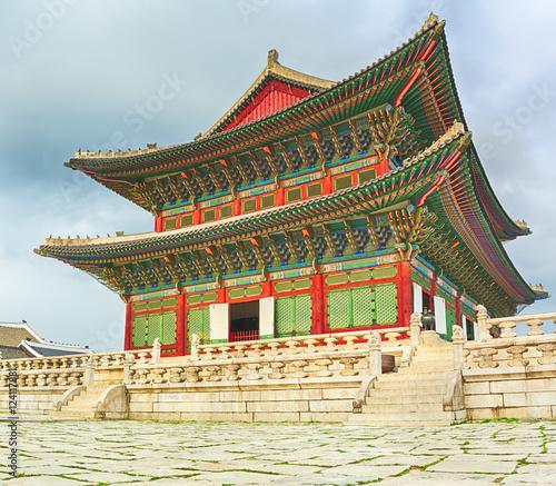 Naklejka premium Pałac Gyeongbokgung. Korea Południowa.