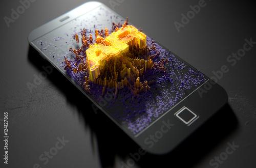 Photo Smart Phone Emanating Augmented Reality