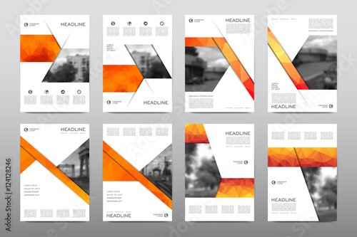 Fototapeta Brochure layout template flyer design vector, Magazine booklet cover abstract background obraz