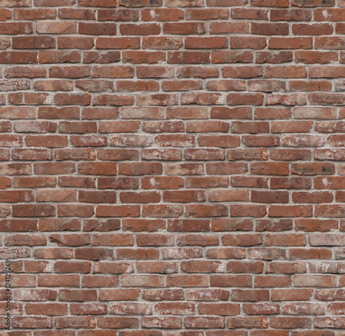 Seamless old brick wall texture or background Wall mural