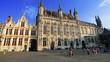 City hall of Bruges in Burg square in Bruges, Belgium