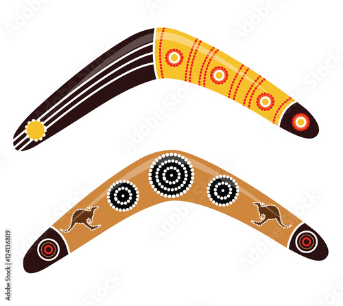 Photo  Australian boomerang vector.