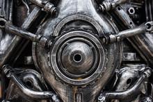 Metal Engine Of Robot