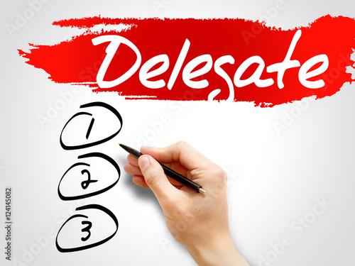 Fotografia, Obraz  Delegate blank list, business concept
