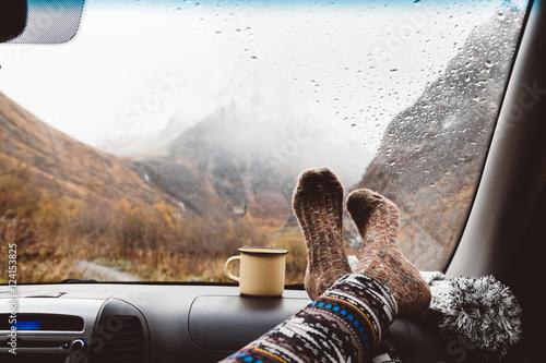 Fotografie, Obraz  Autumnal travel concept