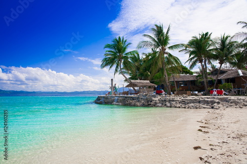 Photo Stands Turquoise Philippines, tropical sea background 1!