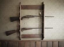 Gun Rack With Guns