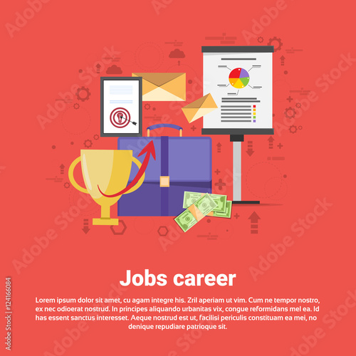 Job Career Professional Occupation Web Banner Flat Vector Illustration Buy This Stock Vector And Explore Similar Vectors At Adobe Stock Adobe Stock