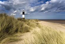Lighthouse On Beach, Humberside, England, UK