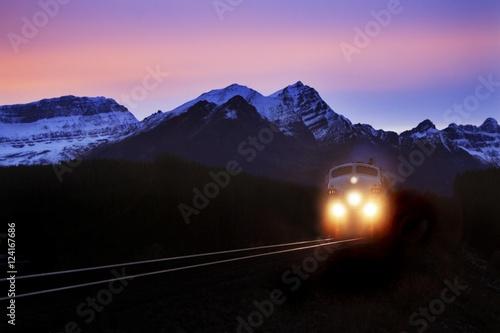 Locomotive Train At Night