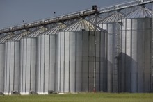 Large Grain Storage Bins; Alberta, Canada