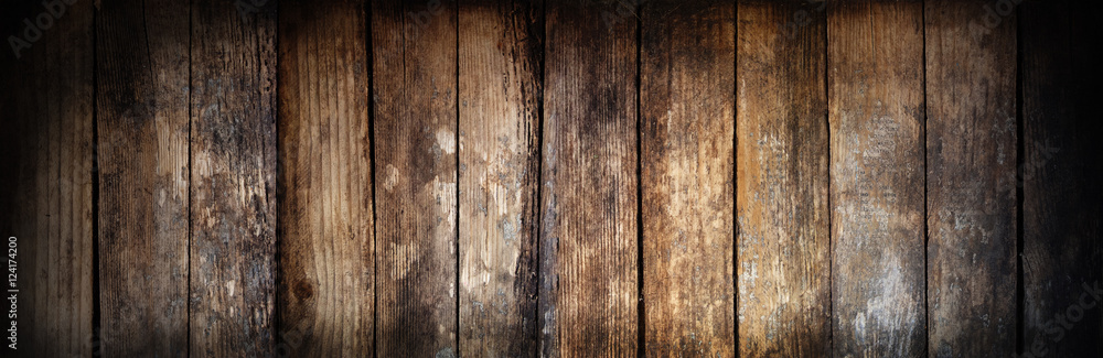 Fototapety, obrazy: Wooden texture. There is room for text. The effect of burnt wood.