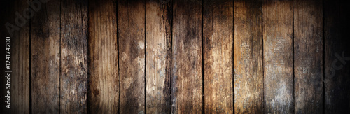 Poster Bois Wooden texture. There is room for text. The effect of burnt wood.