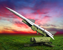 Military Equipment. Launch A Setup Aimed At The Sky