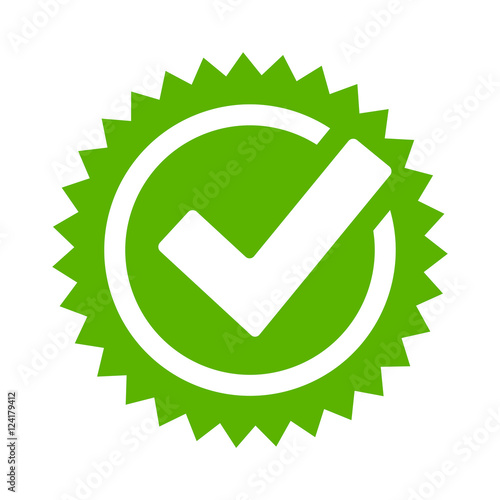 Fotomural Tick approval star icon