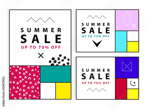 Photo  Summer sale banners
