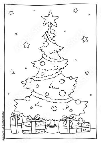 40 ausmalbilder weihnachtsbaum mit geschenken  besten