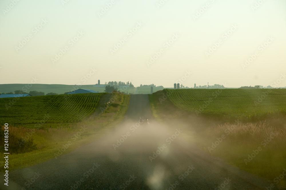 Fotografia 2CV on dirt road, summer