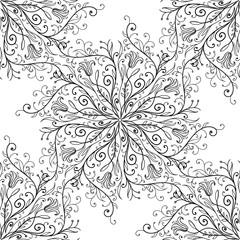 Calligraphy penmanship decorative seamless background. Vector illustration