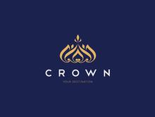Crown Logo, King Royal Logo Template, Luxury Logo