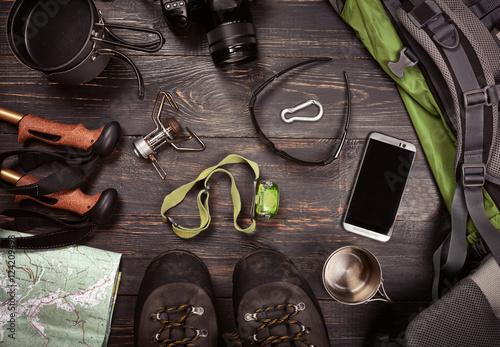 Hiking accessories Fototapet