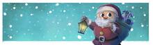 Santa Claus Con Regalos Nevando