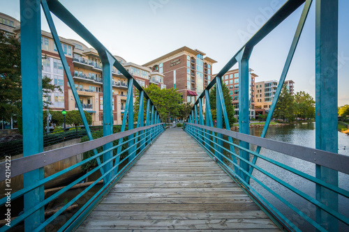Bridge over the Reedy River in downtown Greenville, South Caroli