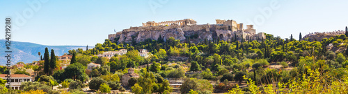 Poster Athene Day Athens panoramic skyline with Acropolis view against blue sky, Greece